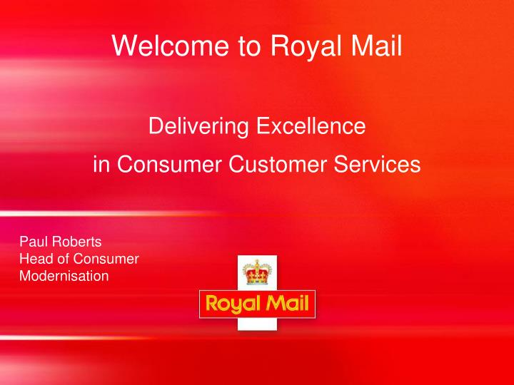 welcome to royal mail n.
