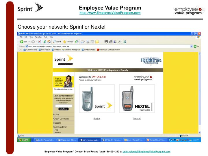 PPT - NationLink Employee Value Program VISIT EVP ONLINE