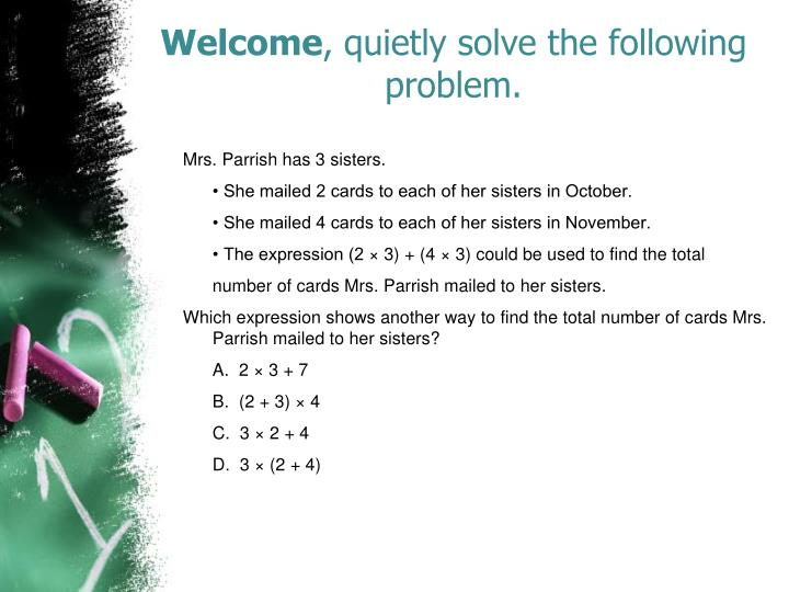 welcome quietly solve the following problem n.