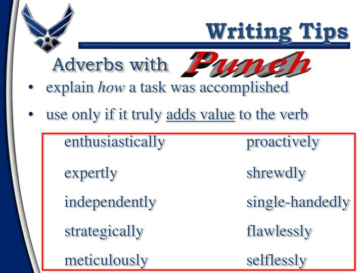 Adverbs with