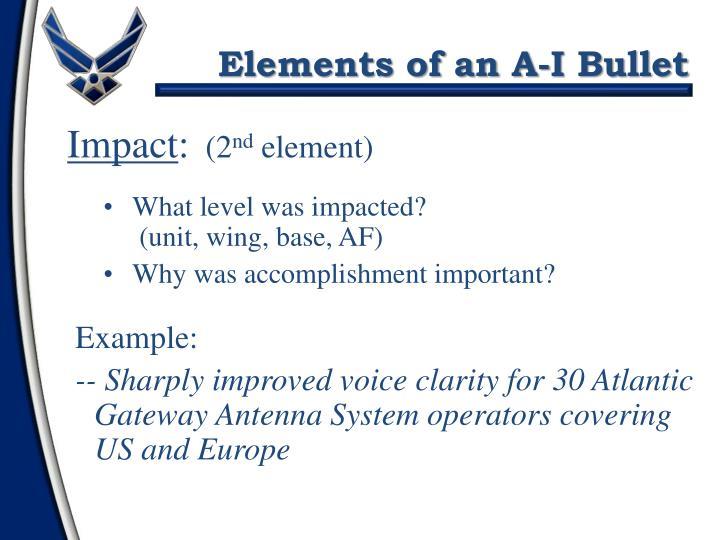 Elements of an A-I Bullet