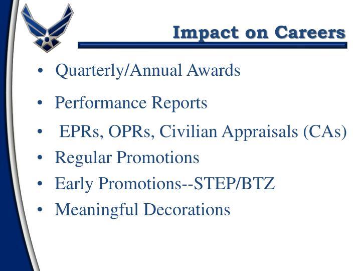 Impact on Careers