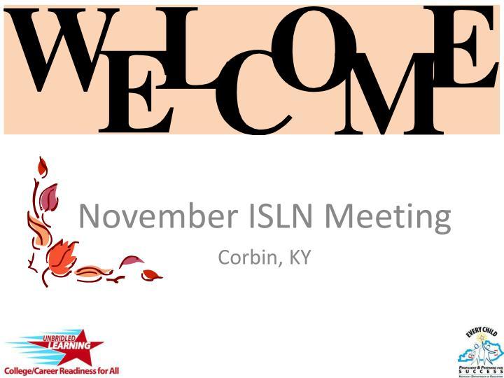 november isln meeting corbin ky n.