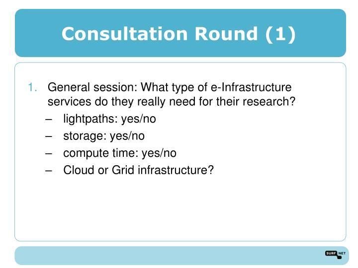 Consultation Round (1)