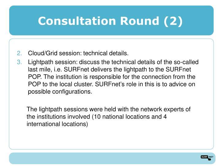 Consultation Round (2)