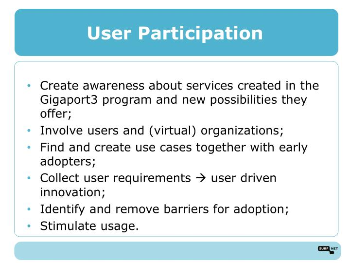User Participation