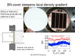 bn cover steepens local density gradient