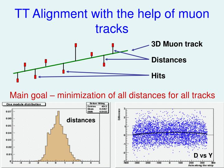 Tt alignment with the help of muon tracks