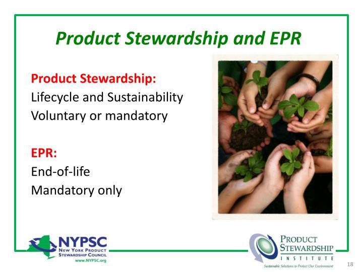 Product Stewardship and EPR