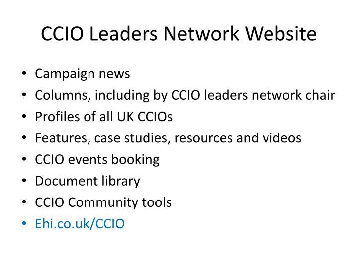 CCIO Leaders Network Website