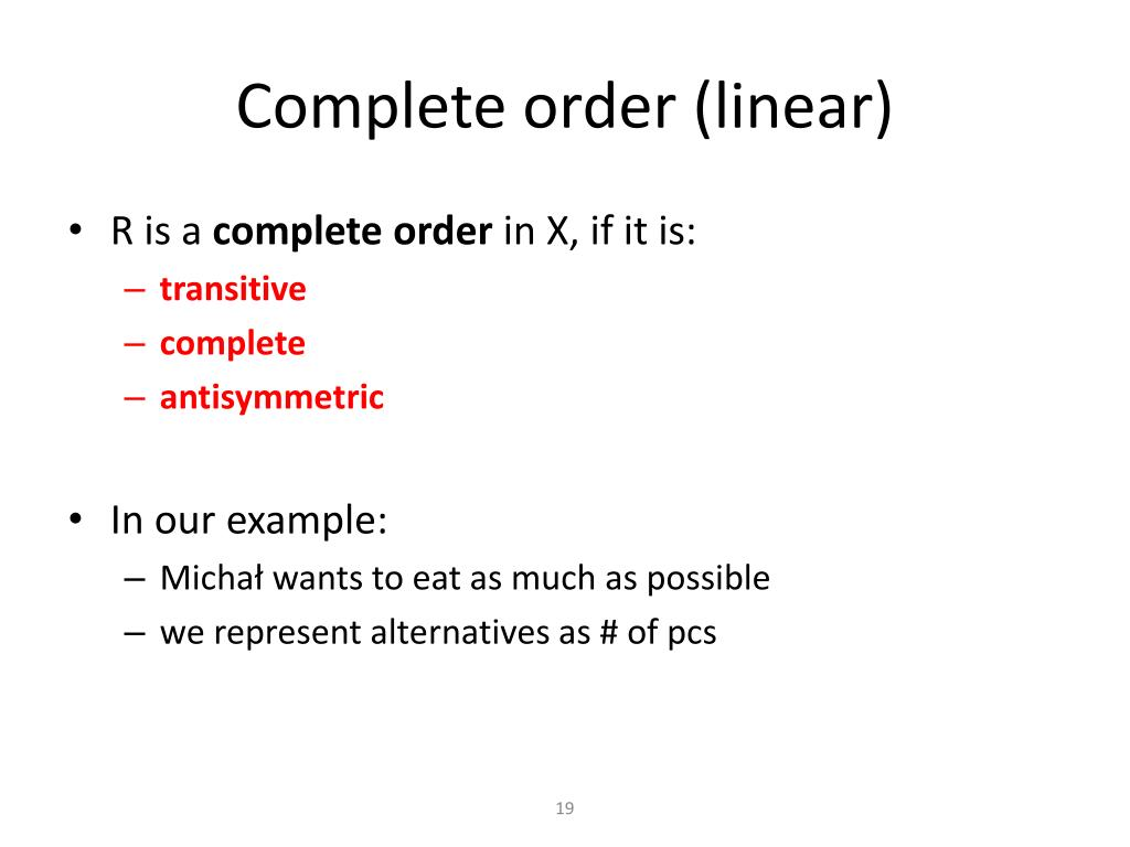 PPT - Decision Theory Preference relation and choice