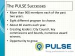 the pulse successes
