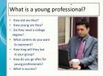 what is a young professional