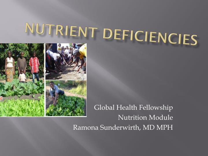 nutrient deficiencies n.