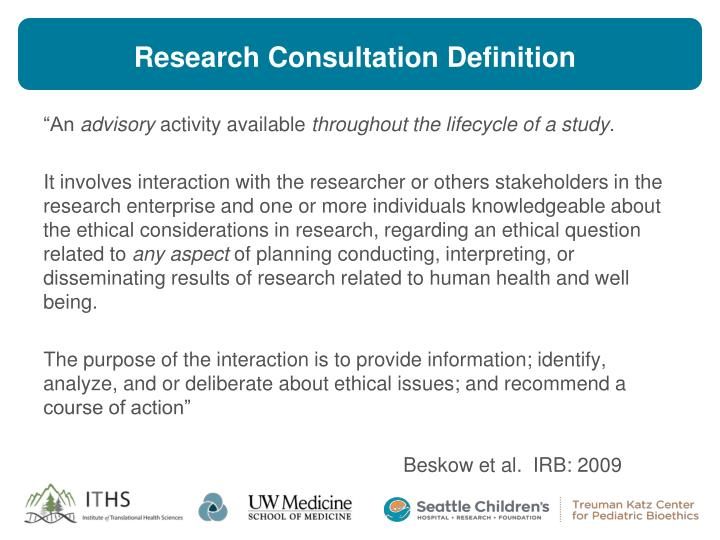 Research consultation definition