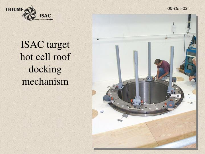 ISAC target hot cell roof docking mechanism