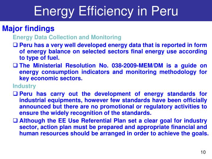 Energy Efficiency in Peru