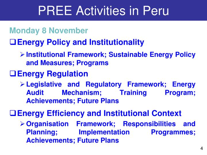 PREE Activities in Peru