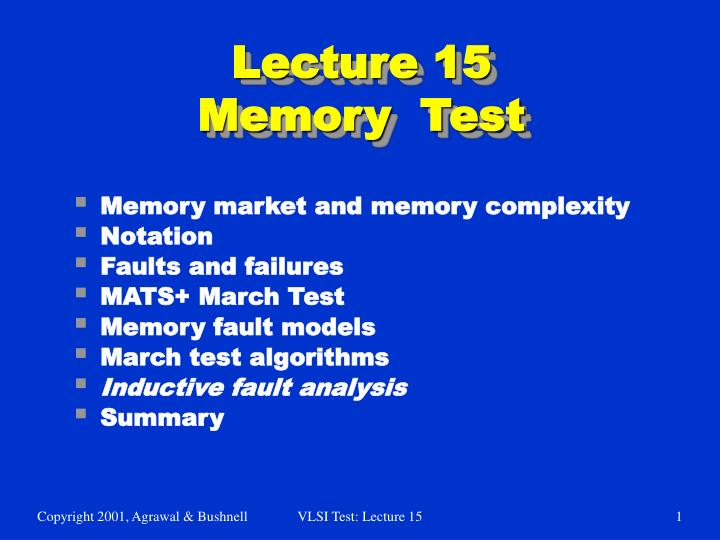 lecture 15 memory test n.