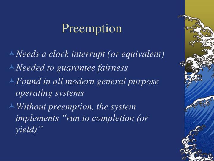 Preemption