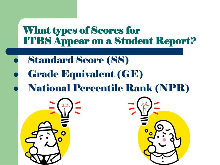 What types of Scores for