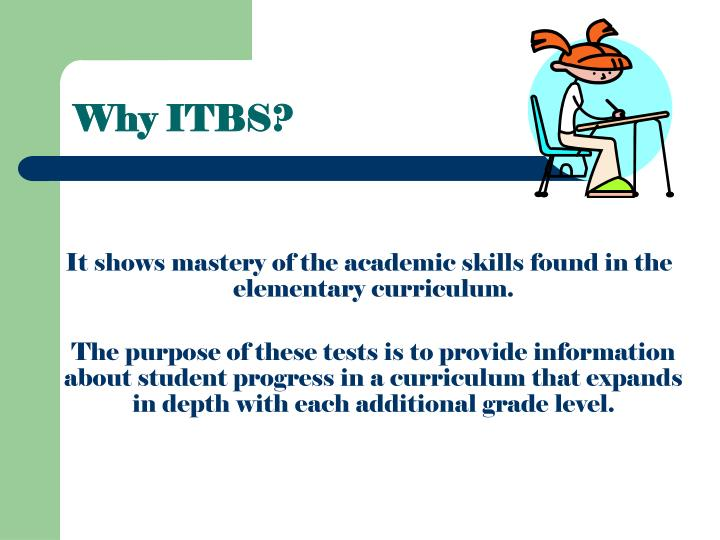 Why ITBS?