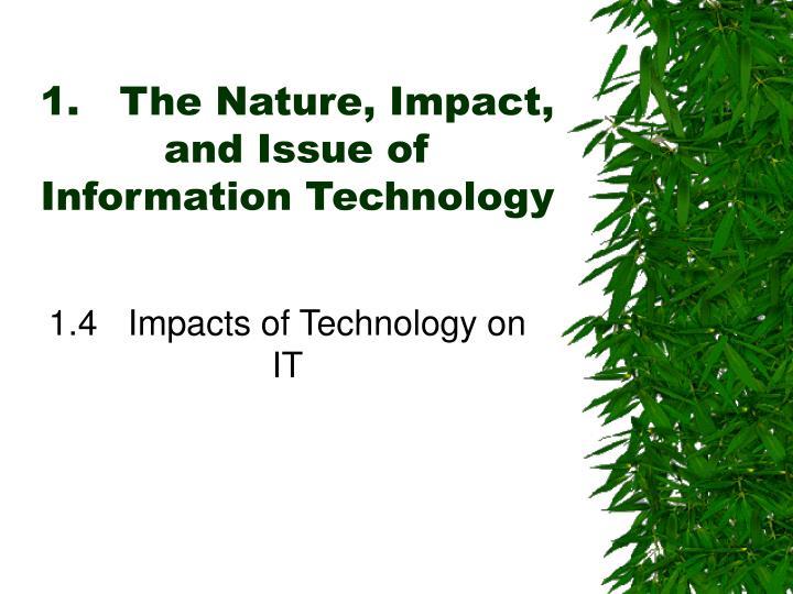 natures impact essay