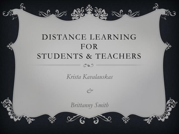 Distance learning for students teachers
