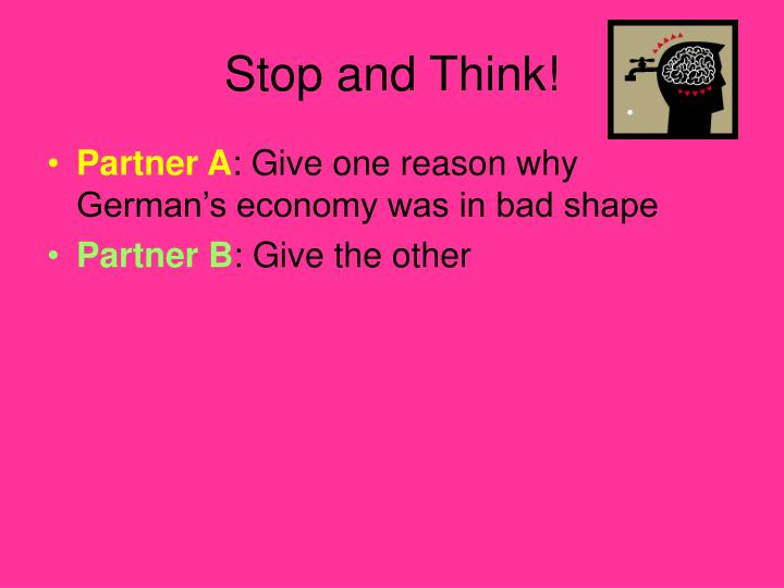 Stop and Think!