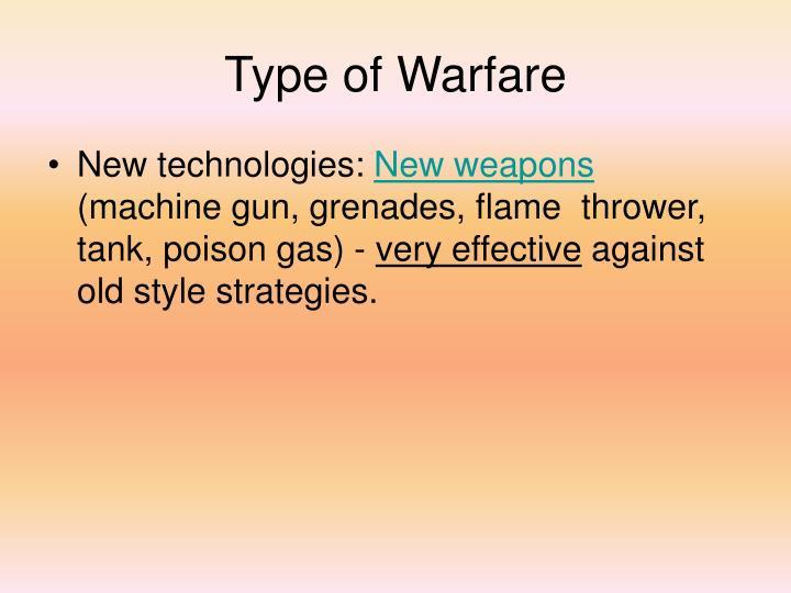 Type of Warfare