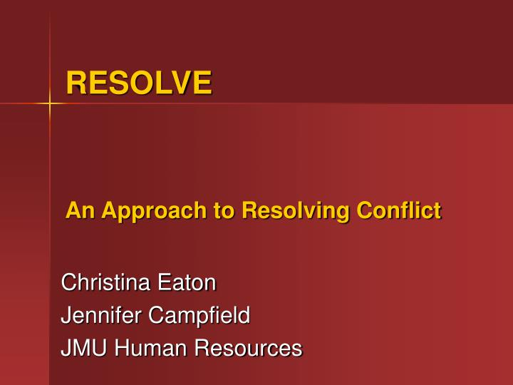 resolving conflicts and possible outcomes Conflict in the workplace is often a result of lack of communication, and if not confronted, could cause major problems for a business, according to workplace issues, a business conflict.