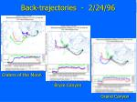 back trajectories 2 24 96