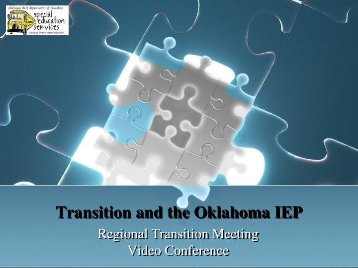 transition and the oklahoma iep n.