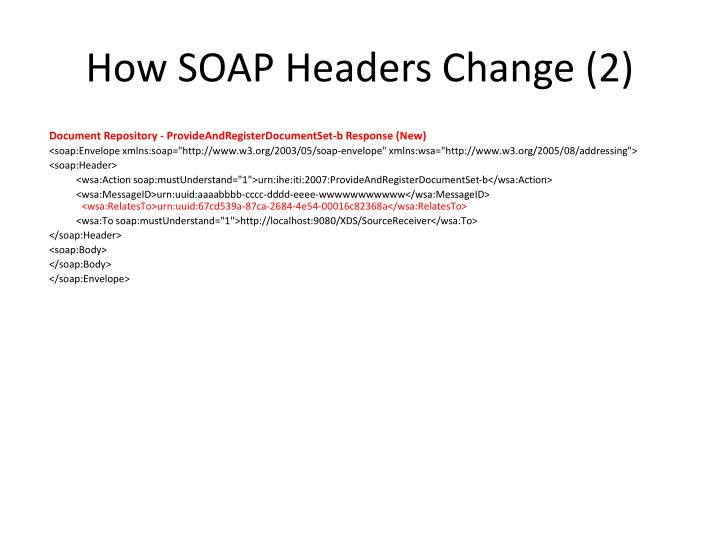 How SOAP Headers Change (2)
