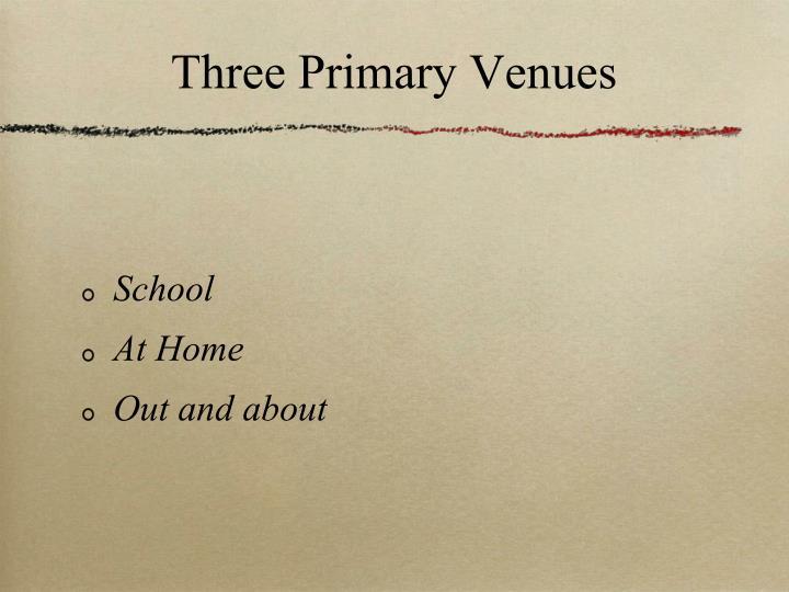 Three Primary Venues