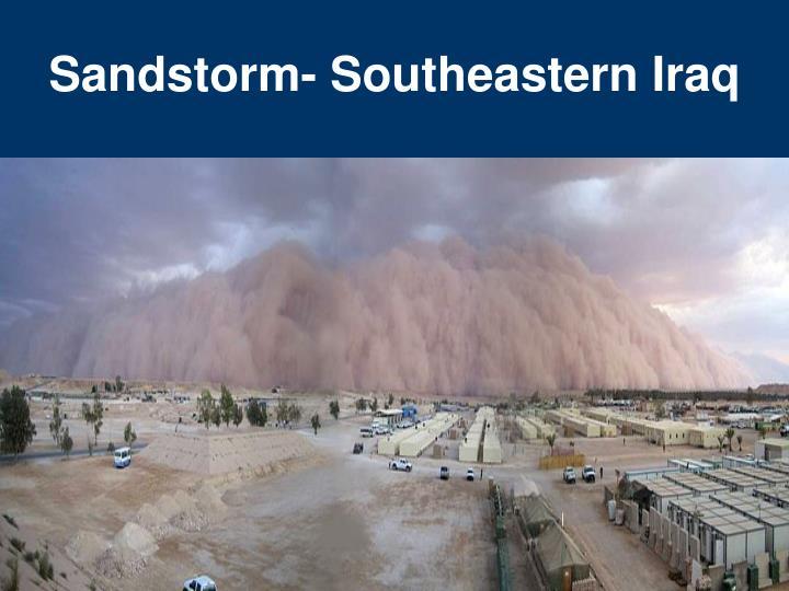 Sandstorm- Southeastern Iraq