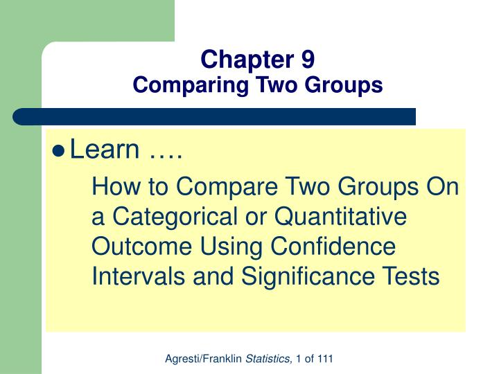 chapter 9 comparing two groups n.