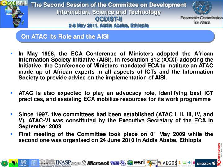 On atac its role and the aisi