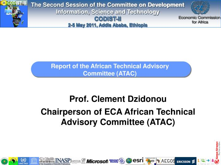 Report of the african technical advisory committee atac
