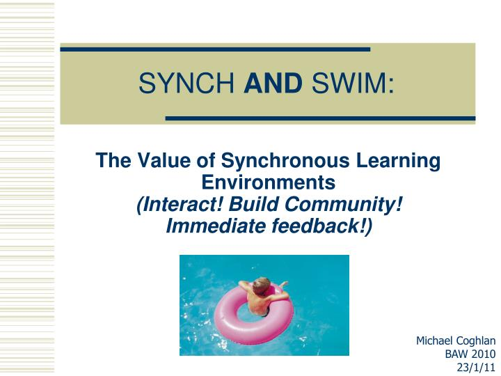 synch and swim