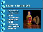 byline a russian doll