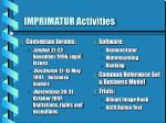 imprimatur activities
