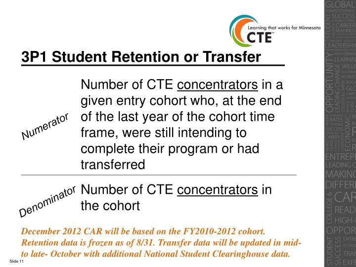 3P1 Student Retention or Transfer