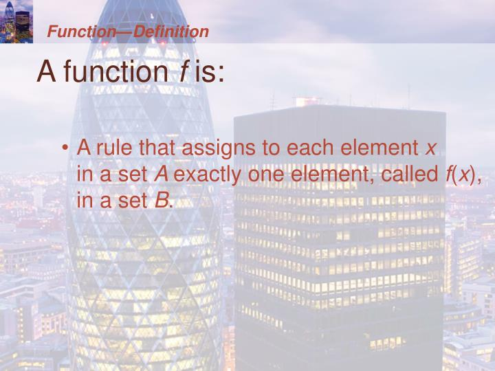 Function—Definition