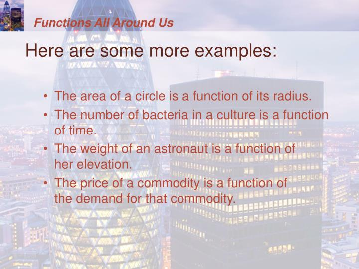 Functions All Around Us