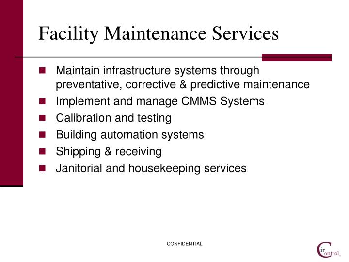 Facility Maintenance Services