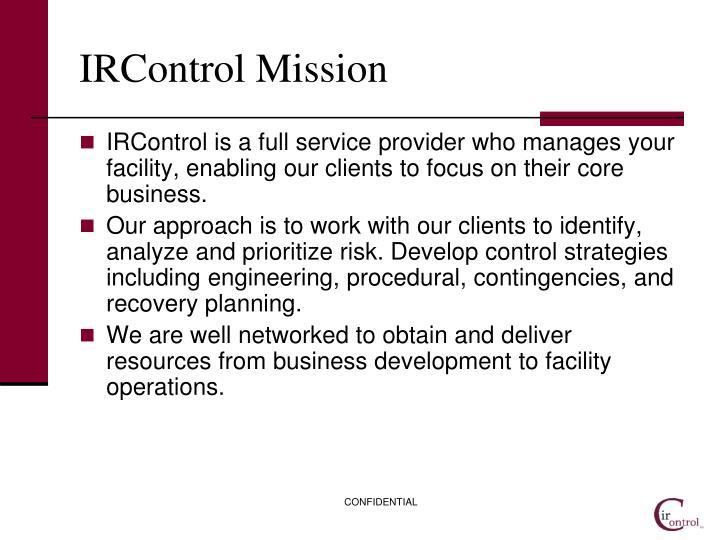 Ircontrol mission