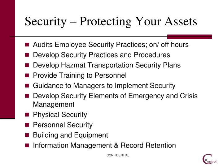 Security – Protecting Your Assets