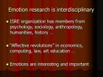 emotion research is interdisciplinary