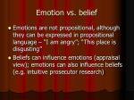 emotion vs belief